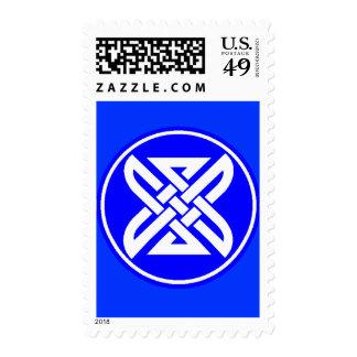 Celtic Knot 1 Blue Postage Stamps