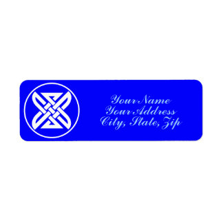 Celtic Knot 1 Blue Return Address Label