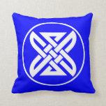 Celtic Knot 1 Blue Throw Pillow