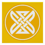 Celtic Knot 1 Gold Poster