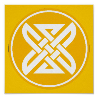 Celtic Knot 1 Gold Poster