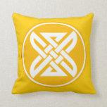 Celtic Knot 1 Gold Throw Pillow