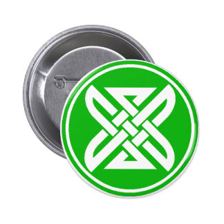 Celtic Knot 1 Green 2 Inch Round Button
