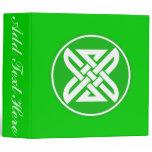 Celtic Knot 1 Green Binder
