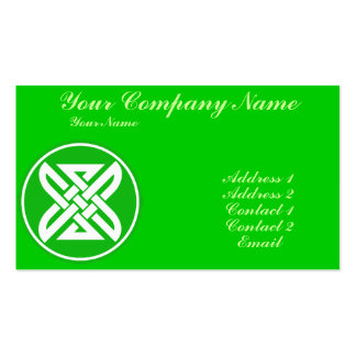 Celtic Knot 1 Green Double-Sided Standard Business Cards (Pack Of 100)