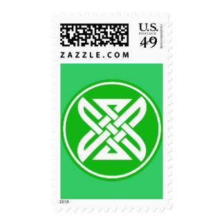 Celtic Knot 1 Green Postage