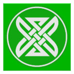 Celtic Knot 1 Green Poster