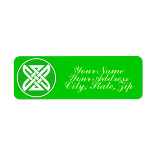 Celtic Knot 1 Green Return Address Label