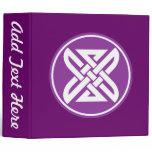 Celtic Knot 1 Purple 3 Ring Binder