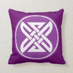 Celtic Knot 1 Purple Throw Pillow