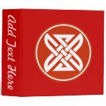 Celtic Knot 1 Red 3 Ring Binder