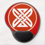 Celtic Knot 1 Red Gel Mouse Pad