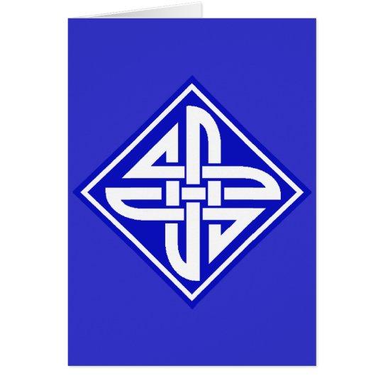 Celtic Knot 2 Blue Card