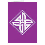 Celtic Knot 2 Purple Greeting Card