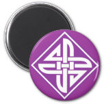 Celtic Knot 2 Purple Magnets
