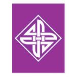 Celtic Knot 2 Purple Postcard