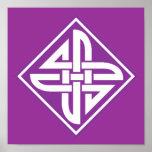 Celtic Knot 2 Purple Poster