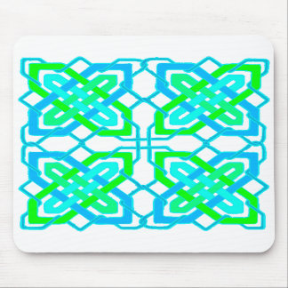 Celtic Knot 3 Blue Green Mouse Mat