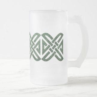 Celtic Knot 4-point, Green Granite, Mug