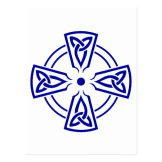 Celtic Knot 5 Blue Postcard