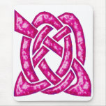 Celtic Knot 6 Red Mouse Pad