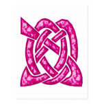 Celtic Knot 6 Red Postcard
