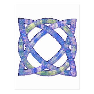 Celtic Knot 8 Blue Post Cards