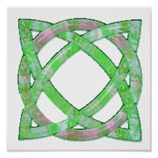 Celtic Knot 8 Green Poster