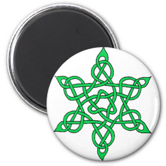 Celtic Knot 9 Green 2 Inch Round Magnet