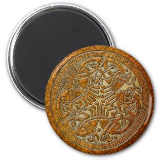 Celtic Knot Amber Birds & Gold-Fridge Magnet