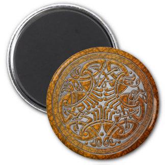 Celtic Knot Amber Birds & Silver-Fridge Magnet Refrigerator Magnets
