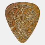 Celtic Knot Amber & Gold Birds -Guitar Pic Guitar Pick