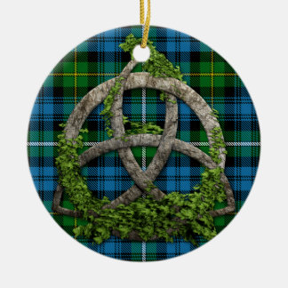 Celtic Knot And Clan Campbell of Argyll Tartan Ceramic Ornament