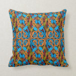 Celtic Knot Animals Lindisfarne Color Pattern Throw Pillow