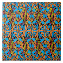 Celtic Knot Animals Lindisfarne Pattern Tile