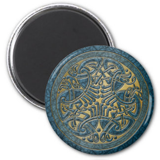 Celtic Knot Aqua Birds & Gold-Fridge Magnet Refrigerator Magnets