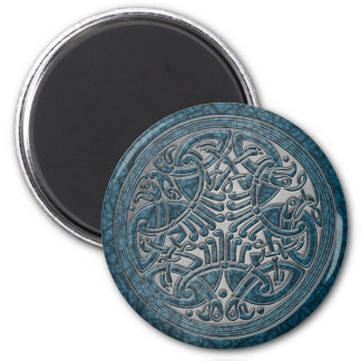 Celtic Knot Aqua Birds & Silver-Fridge Magnet Magnets