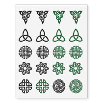 Celtic Knot assortment green and black tattoos