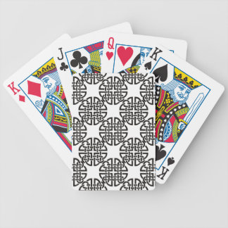 Celtic Knot Black and White Bicycle Playing Cards
