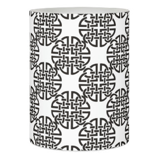 Celtic Knot Black and White Flameless Candle