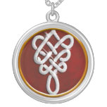 Celtic Knot Bling Silver Plated Necklace