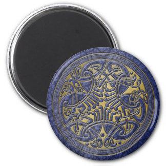Celtic Knot Blue Birds & Gold-Fridge Magnet