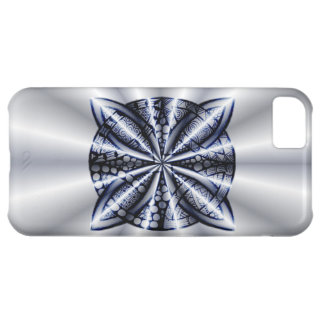 Celtic Knot Blue Metallic Cover For iPhone 5C