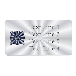 Celtic Knot Blue Metallic Shipping Label