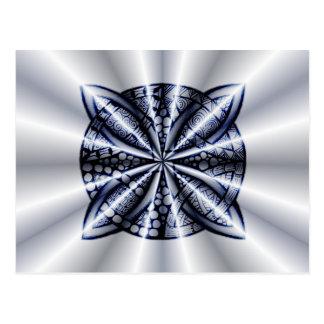 Celtic Knot Blue Metallic Postcard