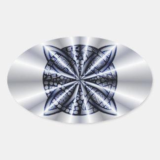 Celtic Knot Blue Metallic Sticker