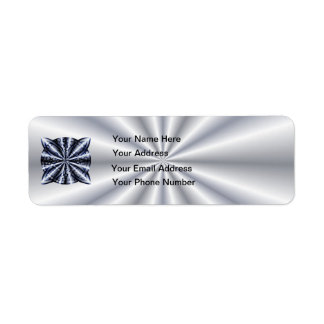 Celtic Knot Blue Tangled Doodle Design Label