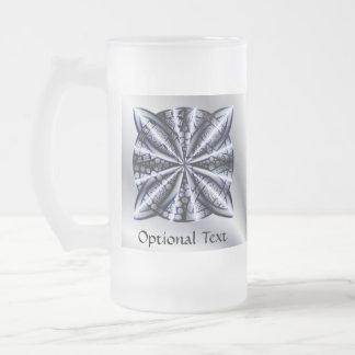 Celtic Knot Blue Tangled Doodle Design Beer Mug