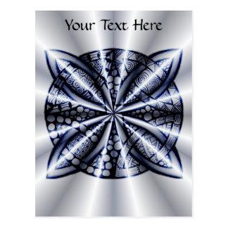 Celtic Knot Blue Tangled Doodle Design Postcard