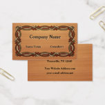 Celtic Knot Border Inlaid Wood look Business Card